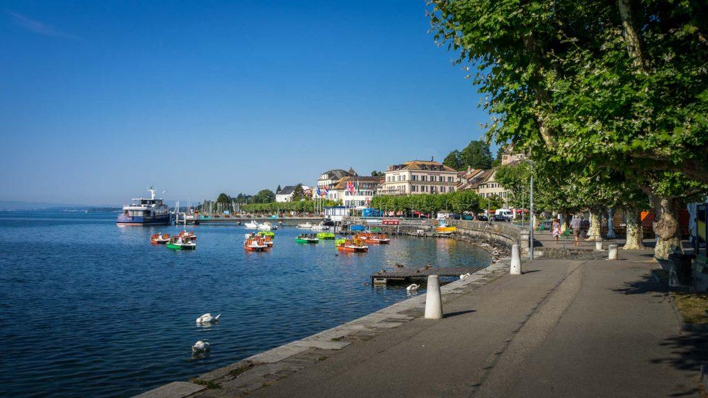 Nyon die Schweiz die Docks