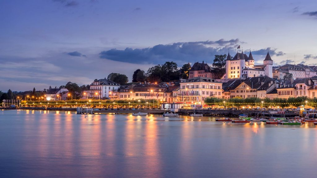 Hotel Le Rive Nyon Schweiz Seeufer